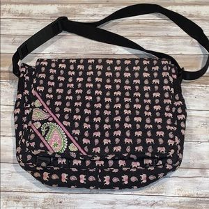 Vera Bradley laptop bag in pink elephant